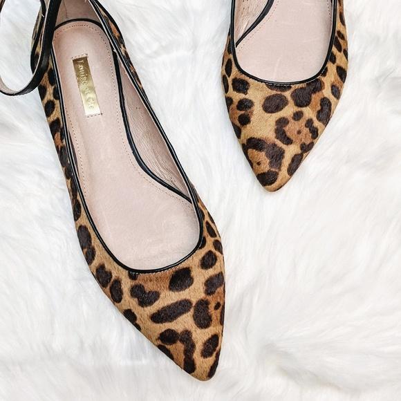 Louise Et Cie Leopard Haircalf Flats